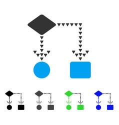 Algorithm flowchart flat icon vector
