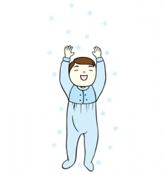 baby and snowflake vector image