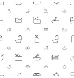 Bath icons pattern seamless white background vector