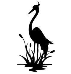 Beauty heron silhouette vector