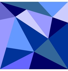 Blue triangle flat design background vector