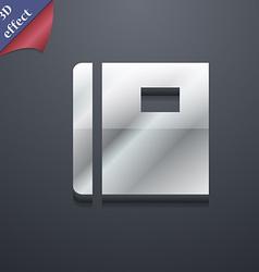 Book icon symbol 3D style Trendy modern design vector