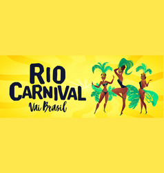 brazilian samba banner carnival in rio de janeiro vector image