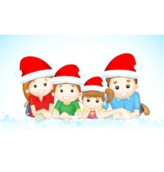 Christmas family vector