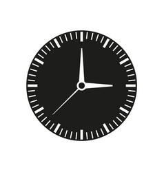 clock of time black icon vector image