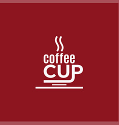 coffee cup design logo coffee on red vector image
