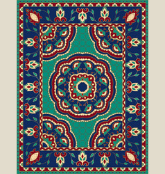 colorful carpet with mandalas vector image