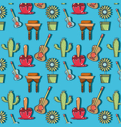 Colorful pattern with elements of festa junina vector