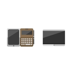 Computer portable tablet and notebook ebook vector
