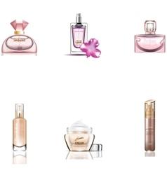 Cosmetics Packages 3d design set vector