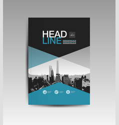 Cover book template layout design annual report vector