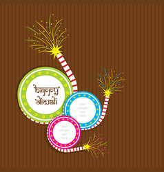 creative happy diwali festival greeting design vector image