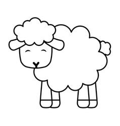Cute sheep manger character vector