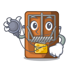 Doctor mousetrap in the a character shape vector