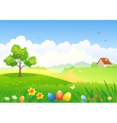 Easter countryside vector