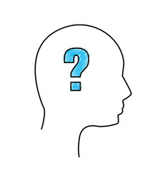 Edge human man question vector