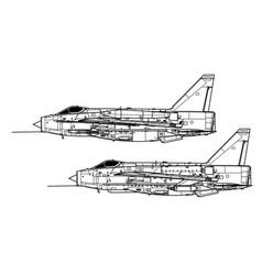 English electric lightning fmk 6 mk 53 vector
