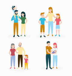 family day set vector image