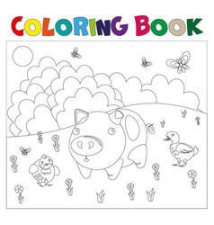 Farm animals for coloring book vector