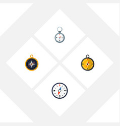 Flat icon compass set of divider compass vector