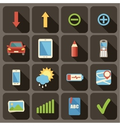 Flat icons set for Web vector