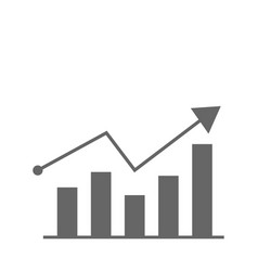 growth diagram icon flat design best icon vector image