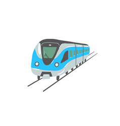 hand drawing flat style metro train in dubai vector image