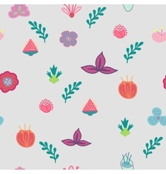 hand drawn flowers seamless pattern vector image