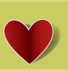 heart love emoji icon object symbol gradient art vector image
