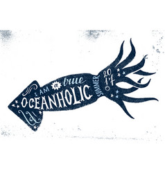 I am a true oceanholic summer 2017 lettering vector