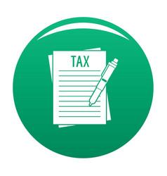 Income declaration icon green vector