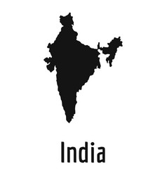 india map in black simple vector image