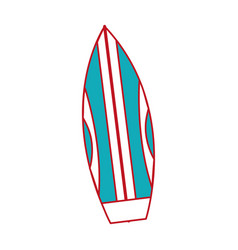 isolated surboard design vector image