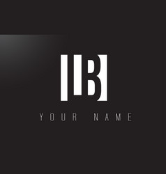 Lb letter logo with black and white negative vector