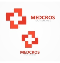 Medical cross logo or icon vector