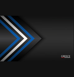 Modern colorful arrows with greek colors vector