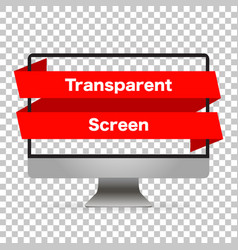monitor computer mockup isolated screen monitor vector image