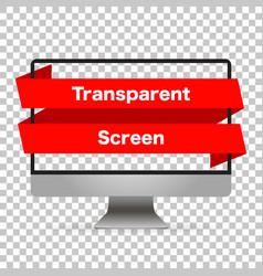 Monitor computer mockup isolated screen monitor vector