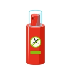 Mosquito Repellent In Plastic Bottle Simplified vector image
