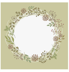 mothers day wreath card vector image