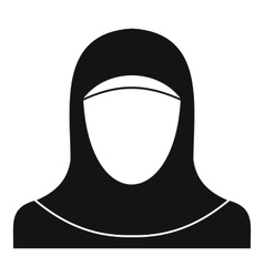 Muslim women wearing hijab icon simple style vector image
