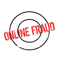 Online fraud rubber stamp vector