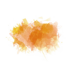 Orange and yellow watercolor painted stain vector
