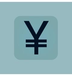 Pale blue yen icon vector image