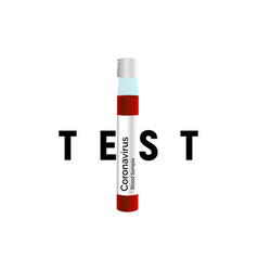 patient blood flask for coronavirus test and other vector image