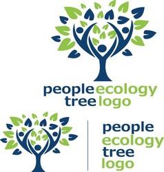 People ecology tree logo 6 vector