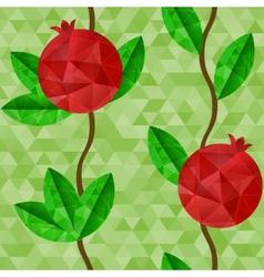Pomegranates seamless pattern vector image