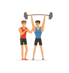 professional fitness coach and bodybuilder man vector image