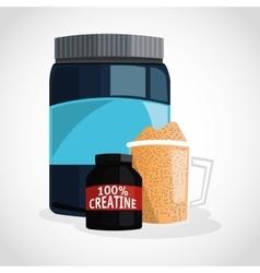 Protein Supplement design vector image
