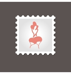 Radish stamp Outline vector image